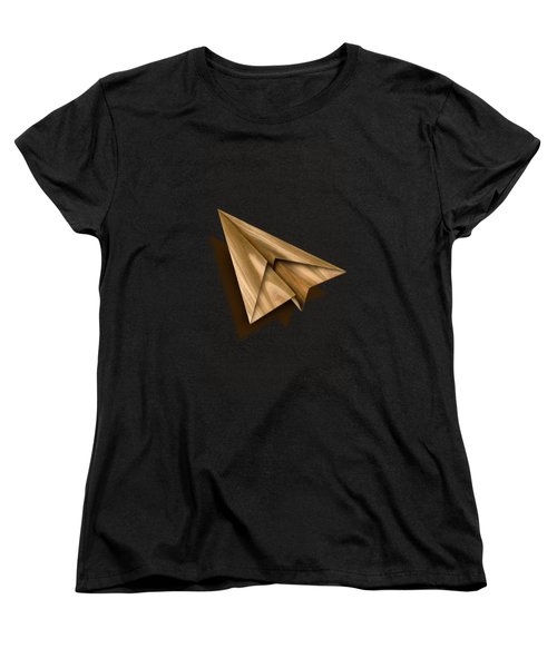 Paper Airplanes Of Wood 1 Women's T-Shirt (Standard Cut) by YoPedro