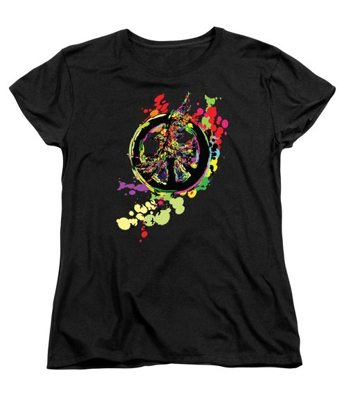 Peace And Peace Women's T-Shirt (Standard Cut) by Cindy Shim