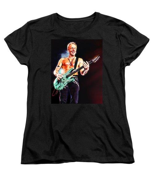 Phil Collen Portrait Women's T-Shirt (Standard Cut) by Scott Wallace