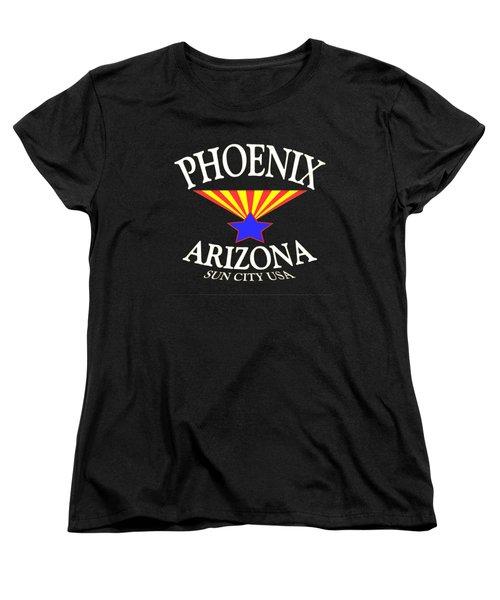 Phoenix Arizona Tshirt Design Women's T-Shirt (Standard Cut) by Art America Online Gallery