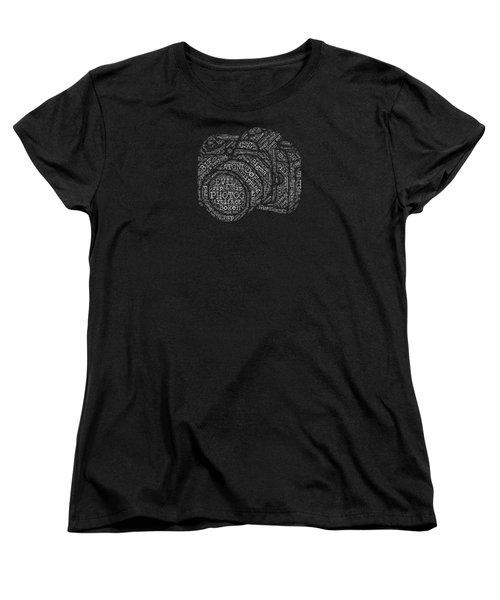 Photography Slang Word Cloud Women's T-Shirt (Standard Cut) by Felikss Veilands