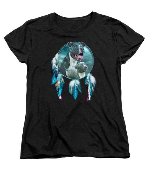 Pit Bulls - Rez Dog Women's T-Shirt (Standard Cut) by Carol Cavalaris