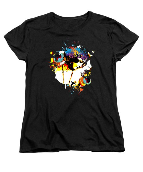 Poetic Peacock - Bespattered Women's T-Shirt (Standard Cut) by Chris Andruskiewicz