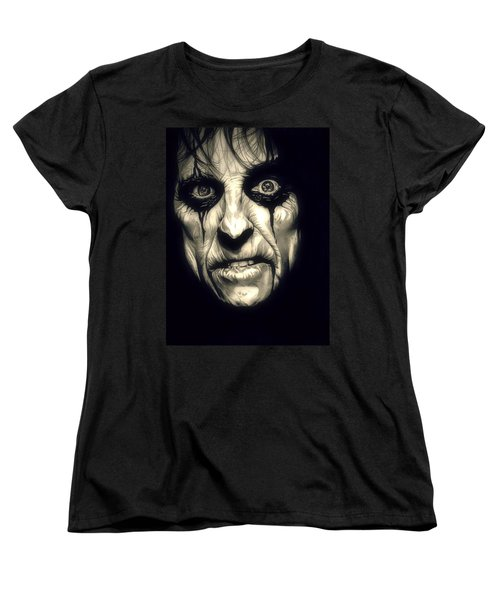 Poison Alice Cooper Women's T-Shirt (Standard Cut) by Fred Larucci