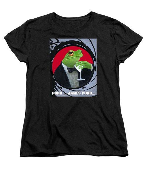 Pond...james Pond... Women's T-Shirt (Standard Cut) by Will Bullas