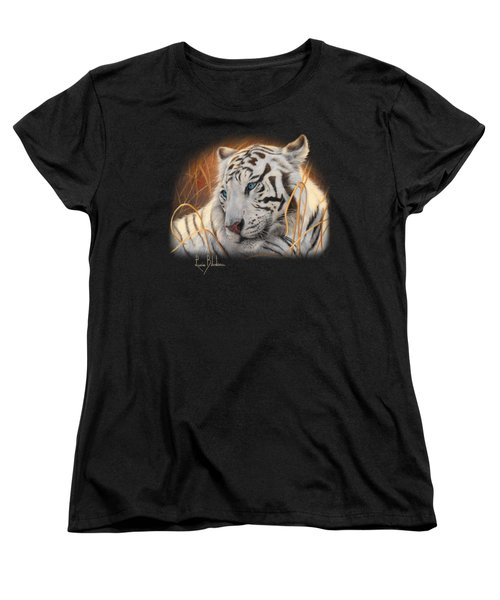 Portrait White Tiger 1 Women's T-Shirt (Standard Cut) by Lucie Bilodeau
