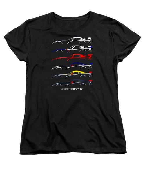 Racing Snake Silhouettehistory Women's T-Shirt (Standard Cut) by Gabor Vida