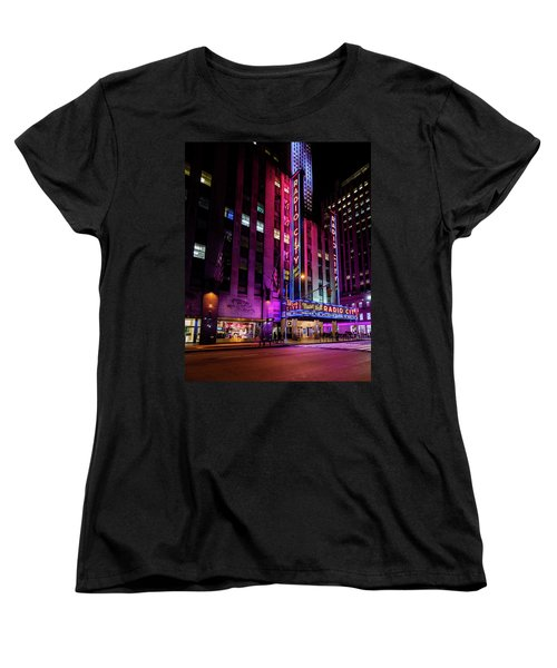 Women's T-Shirt (Standard Cut) featuring the photograph Radio City Music Hall by M G Whittingham
