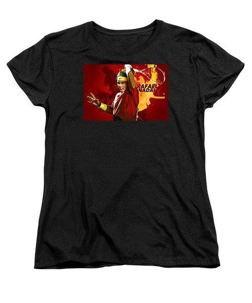 Rafael Nadal Women's T-Shirt (Standard Cut) by Semih Yurdabak