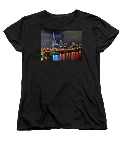 Rainbow On The River Women's T-Shirt (Standard Cut) by Frozen in Time Fine Art Photography