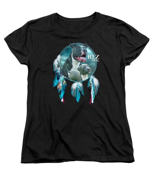 Rez Dog Cover Art Women's T-Shirt (Standard Cut) by Carol Cavalaris