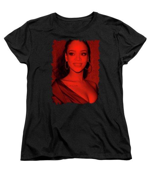 Rihanna - Celebrity Women's T-Shirt (Standard Cut) by Mona Jain