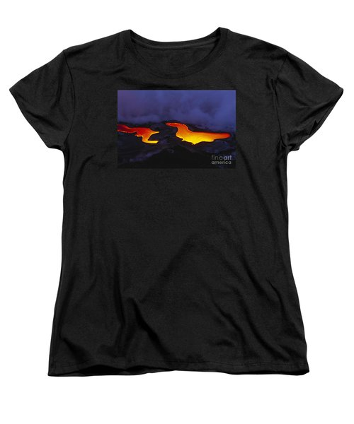 River Of Lava Women's T-Shirt (Standard Cut) by Peter French - Printscapes