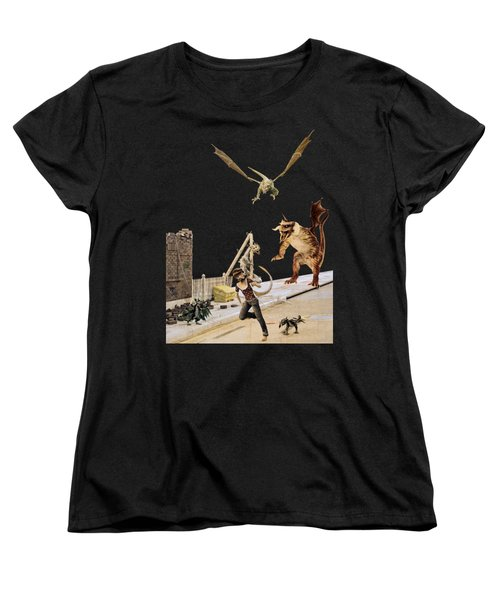 Running From My Problems Women's T-Shirt (Standard Cut) by Methune Hively