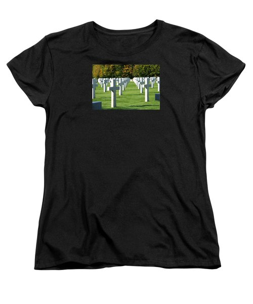 Women's T-Shirt (Standard Cut) featuring the photograph Saint Mihiel American Cemetery by Travel Pics