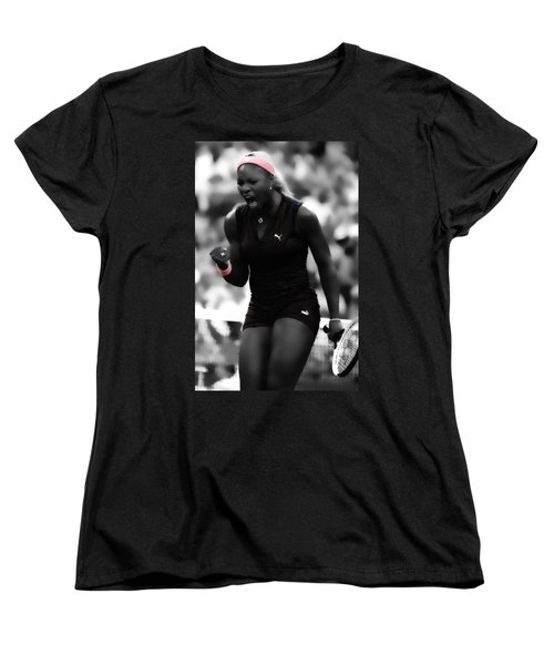 Serena Williams On Fire Women's T-Shirt (Standard Cut) by Brian Reaves