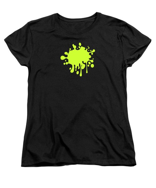 Solid Electric Lime Color Women's T-Shirt (Standard Cut) by Garaga Designs