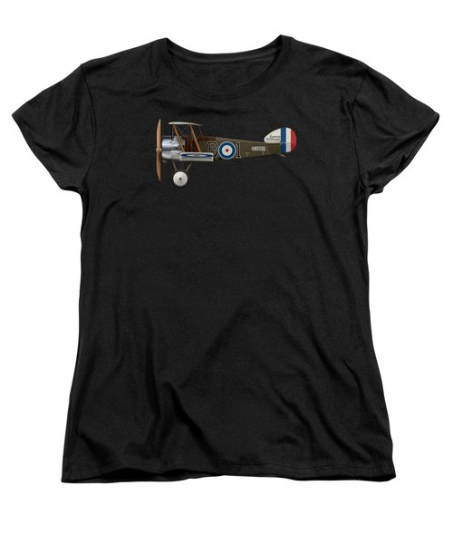 Sopwith Camel - B3889 - Side Profile View Women's T-Shirt (Standard Cut) by Ed Jackson