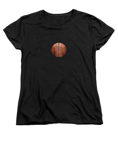 Split Circle Red Women's T-Shirt (Standard Cut) by YoPedro