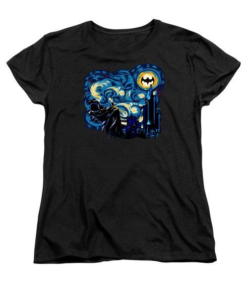 Starry Knight Women's T-Shirt (Standard Cut) by Three Second