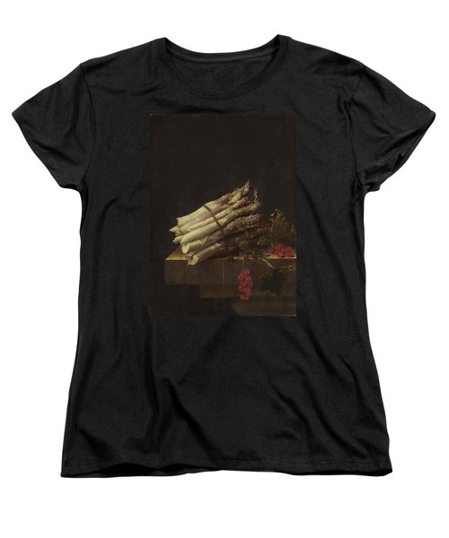 Still Life With Asparagus And Red Currants Women's T-Shirt (Standard Cut) by Adriaen Coorte