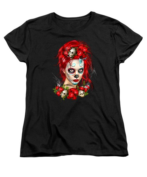 Sugar Doll Red Women's T-Shirt (Standard Cut) by Shanina Conway