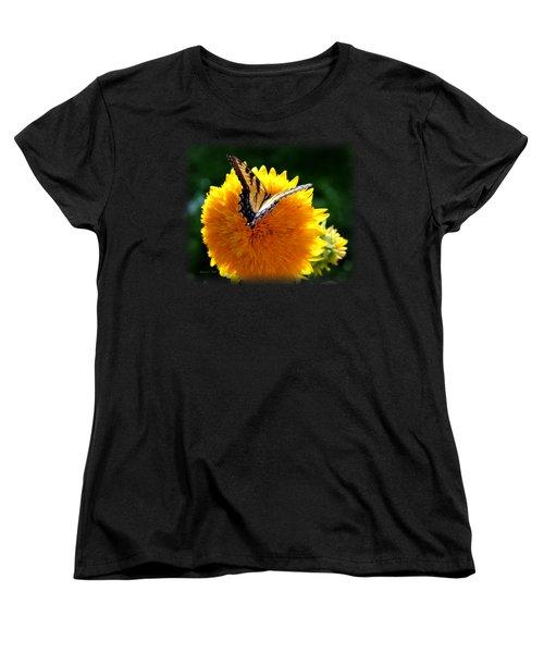 Swallowtail On Sunflower Women's T-Shirt (Standard Cut) by Korrine Holt