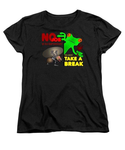 Take A Break Women's T-Shirt (Standard Cut) by Felikss Veilands