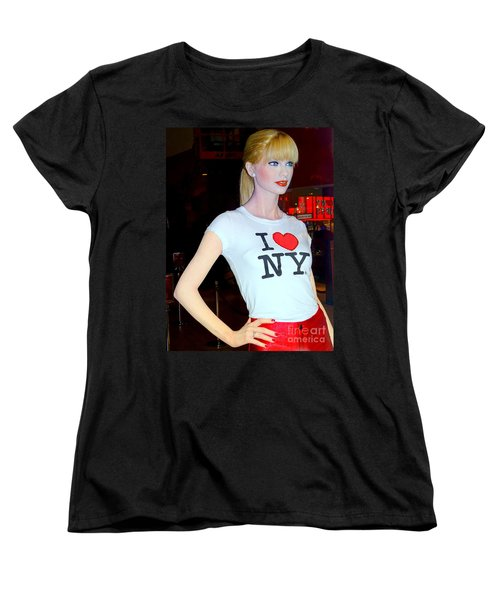 Taylor In Times Square Women's T-Shirt (Standard Cut) by Ed Weidman