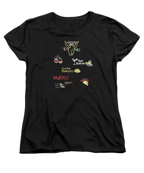 The American Grill Women's T-Shirt (Standard Cut) by Mark Rogan