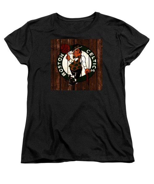 The Boston Celtics 2c Women's T-Shirt (Standard Cut) by Brian Reaves