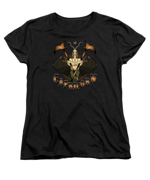 The Goat - Capricorn Spirit Women's T-Shirt (Standard Cut) by Raphael Lopez