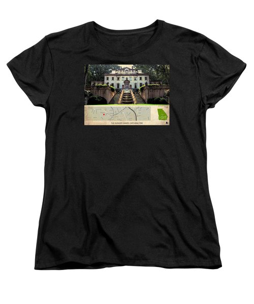 The Hunger Games Catching Fire Movie Location And Map Women's T-Shirt (Standard Cut) by Pablo Franchi