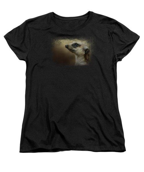 The Meerkat Women's T-Shirt (Standard Cut) by Jai Johnson