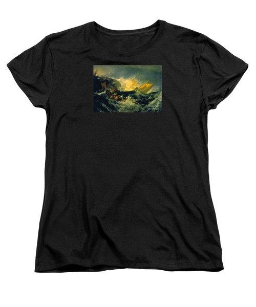 The Shipwreck Of The Minotaur Women's T-Shirt (Standard Cut) by JMW Turner