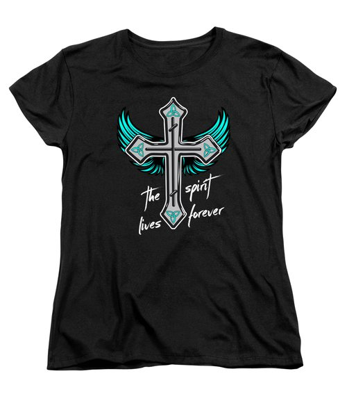 The Spirit Lives Forever II Women's T-Shirt (Standard Cut) by Melanie Viola