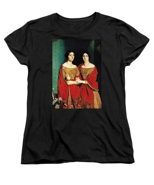The Two Sisters Women's T-Shirt (Standard Cut) by Theodore Chasseriau