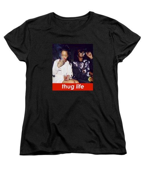 Thug Life Women's T-Shirt (Standard Cut) by Bruna Bottin