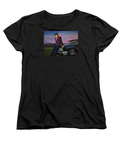 Tom Waits Women's T-Shirt (Standard Cut) by Paul Meijering