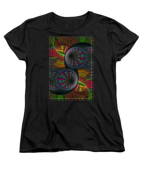 Tunneling Abstract Fractal Women's T-Shirt (Standard Cut) by Sharon and Renee Lozen
