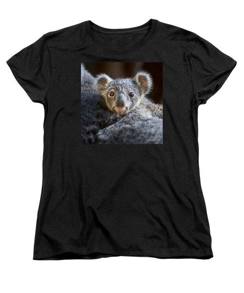 Up Close Koala Joey Women's T-Shirt (Standard Cut) by Jamie Pham