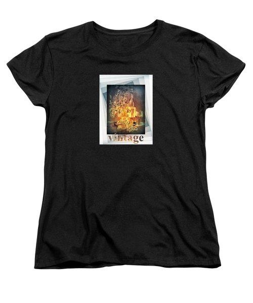 Vintage Wine Women's T-Shirt (Standard Cut) by Valerie Anne Kelly