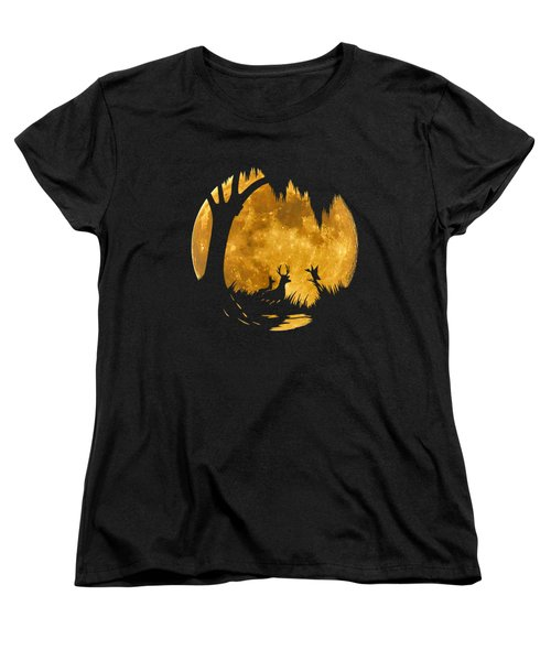 Wetland Wildlife Massive Moon .png Women's T-Shirt (Standard Cut) by Al Powell Photography USA
