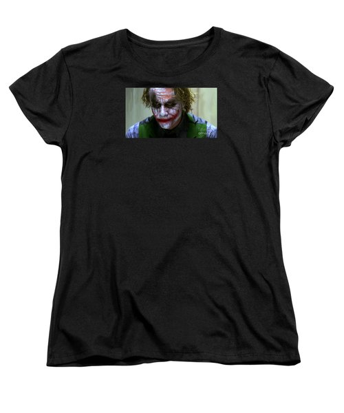 Why So Serious Women's T-Shirt (Standard Cut) by Paul Tagliamonte