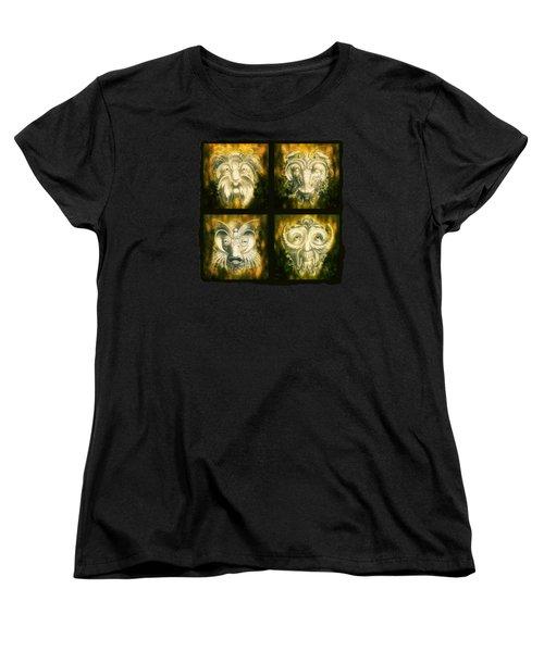 Wizard Rogue's Gallery Women's T-Shirt (Standard Cut) by Terry Fleckney