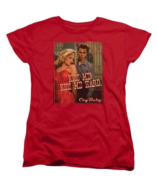 Cry Baby - Kiss Me Women's T-Shirt (Standard Cut) by Brand A