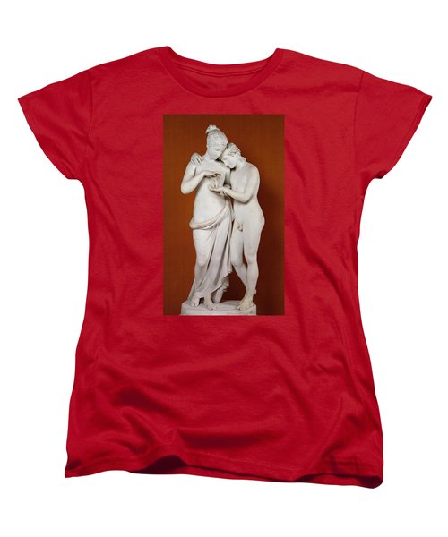 Cupid And Psyche Women's T-Shirt (Standard Cut) by Antonio Canova