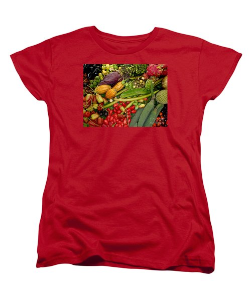 Exotic Fruits Women's T-Shirt (Standard Cut) by Carey Chen