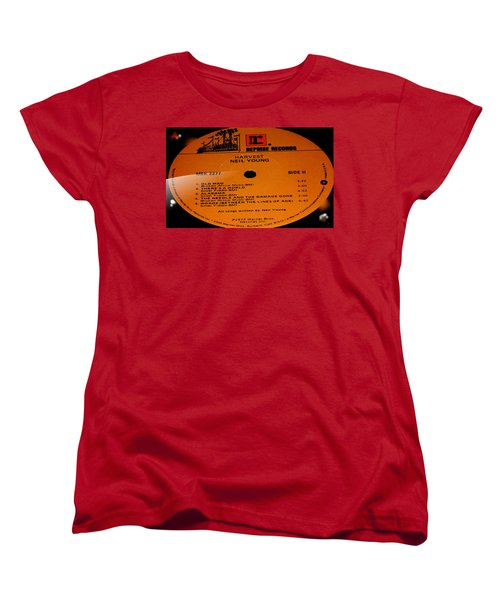 Harvest Neil Young Side 2 Women's T-Shirt (Standard Cut) by Marcello Cicchini
