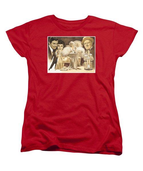 Hollywoods Golden Era Women's T-Shirt (Standard Cut) by Dick Bobnick